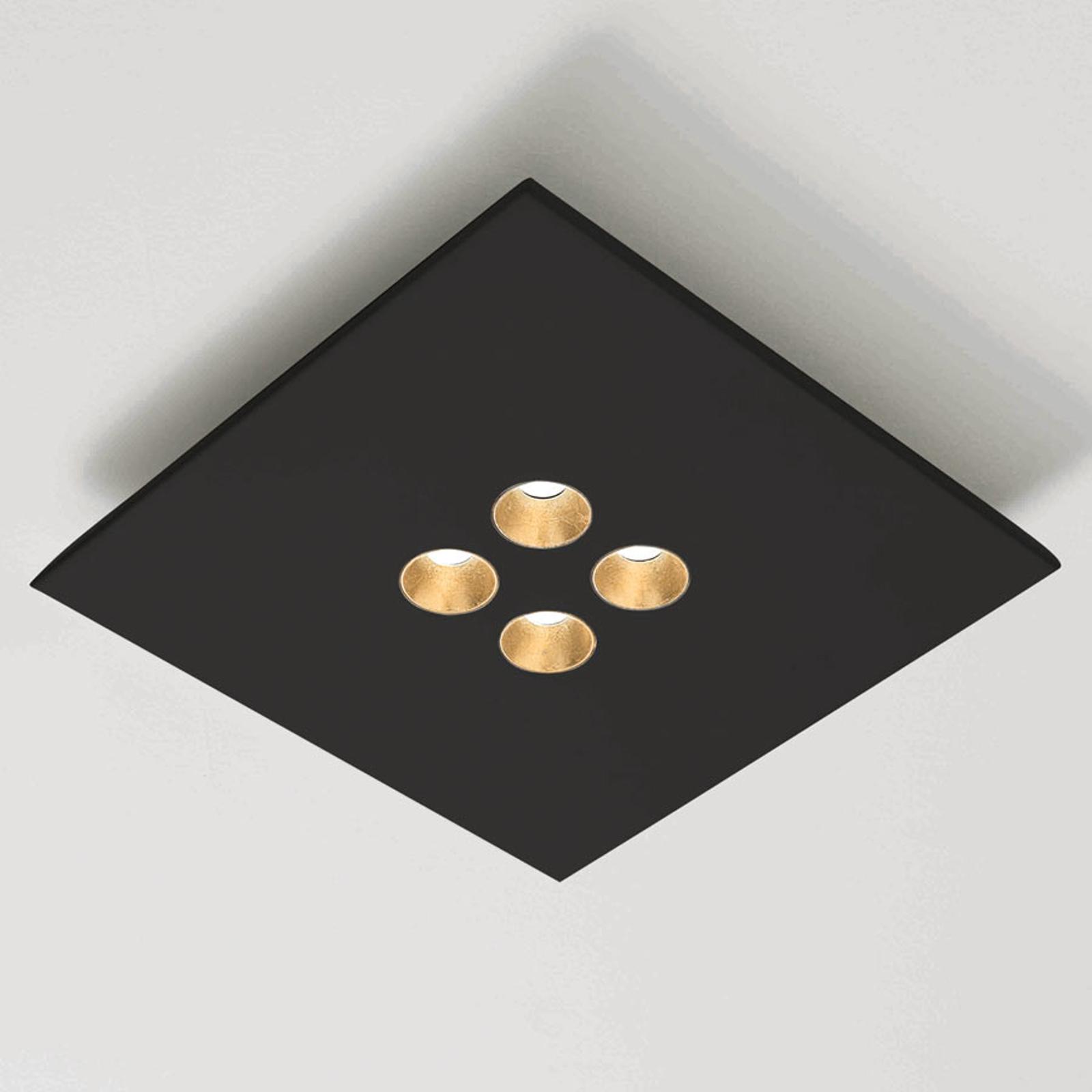 ICONE Confort - lampa sufitowa LED czarna