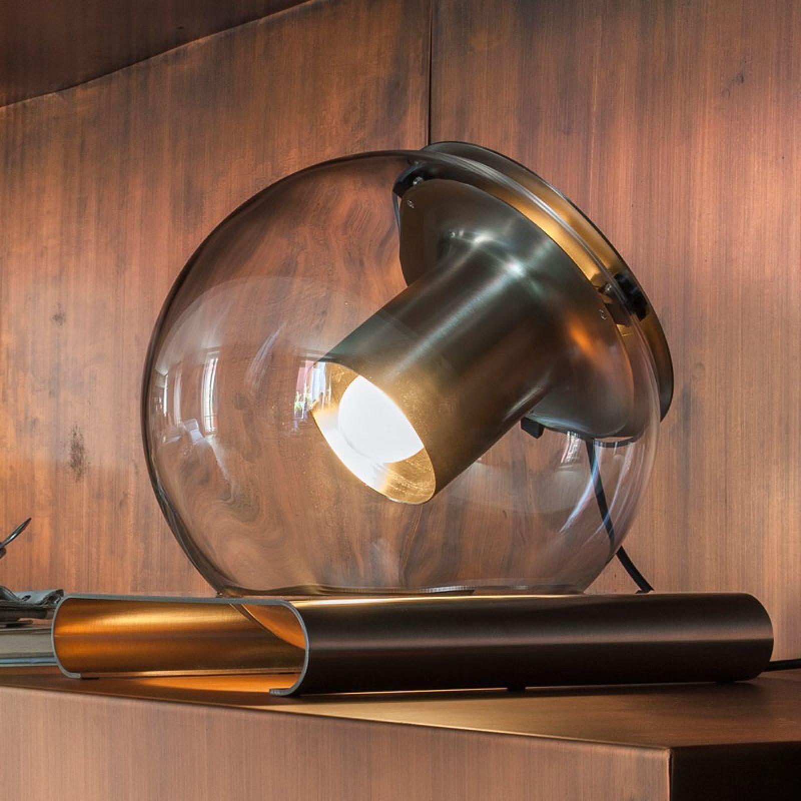 Oluce The Globe - tafellamp van glas