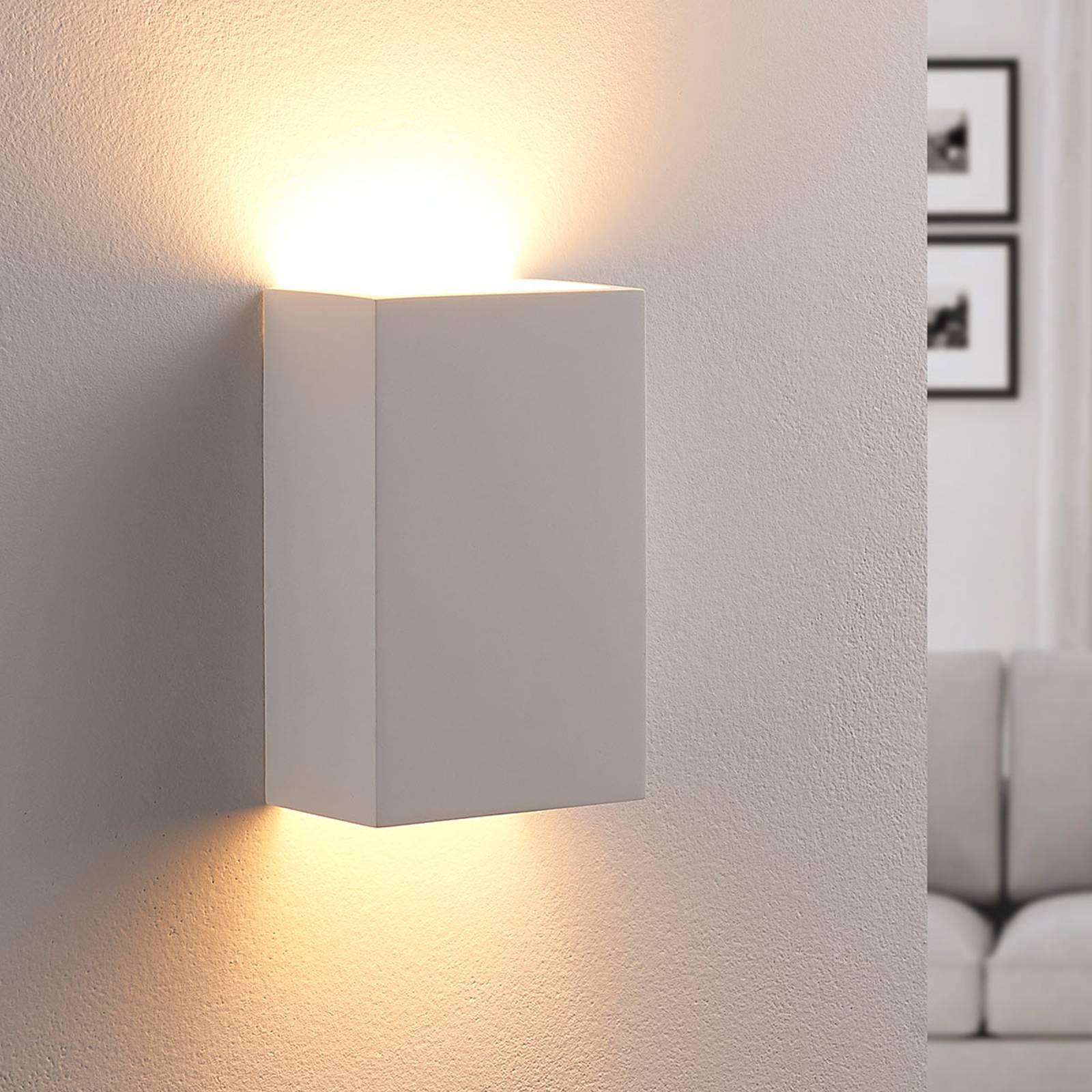 Colja - kantige LED-Wandleuchte aus Gips