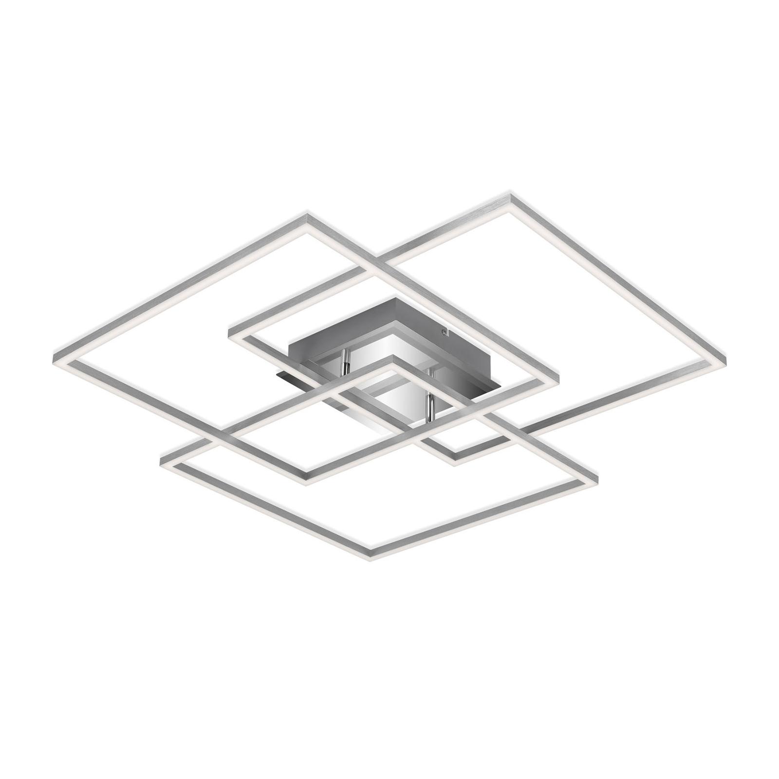 LED-taklampe Frame CCT, kromaluminium, 70 x 70 cm