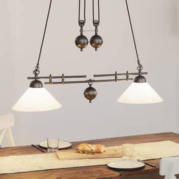 Menzel Anno 1900 verstelbare hanglamp 2 lampen