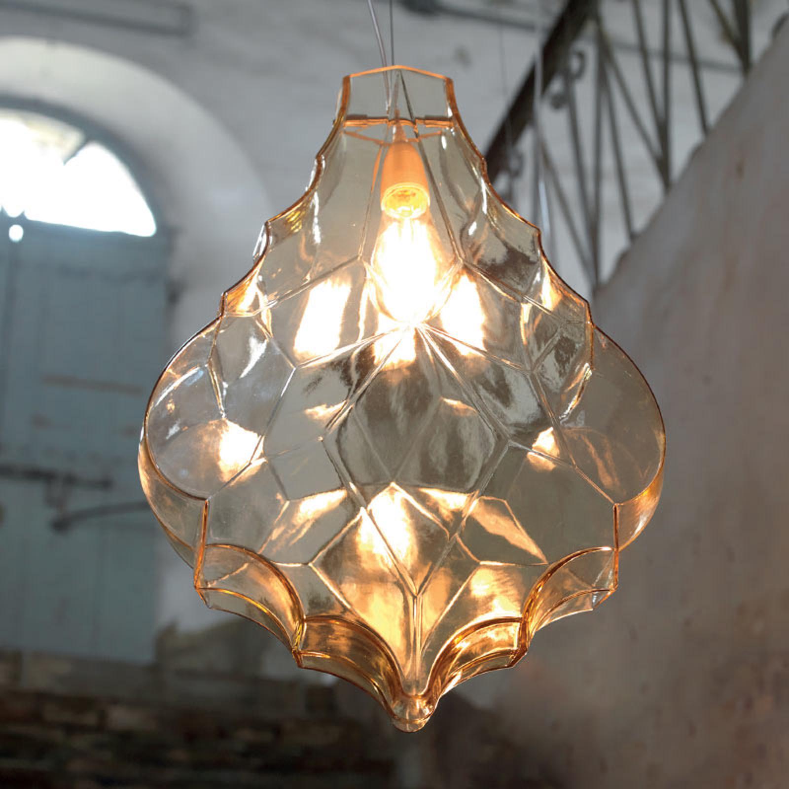 Karman 24 Karati lampa wisząca liść żółta