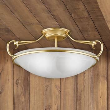 Dekoracyjna lampa sufitowa Como, matowy mosiądz