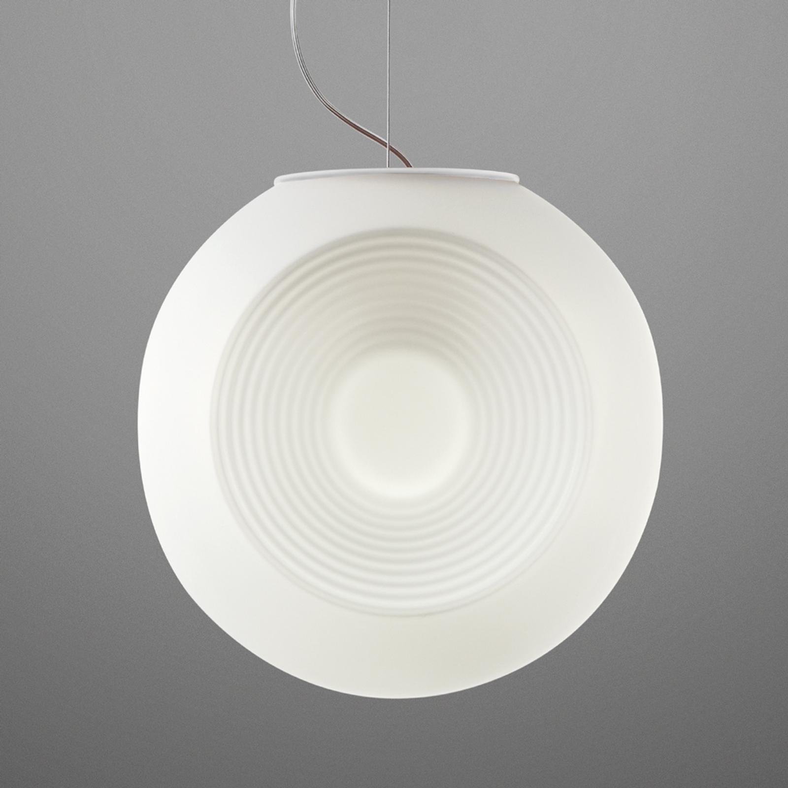 Fabbian Eyes - bílé skleněné závěsné světlo
