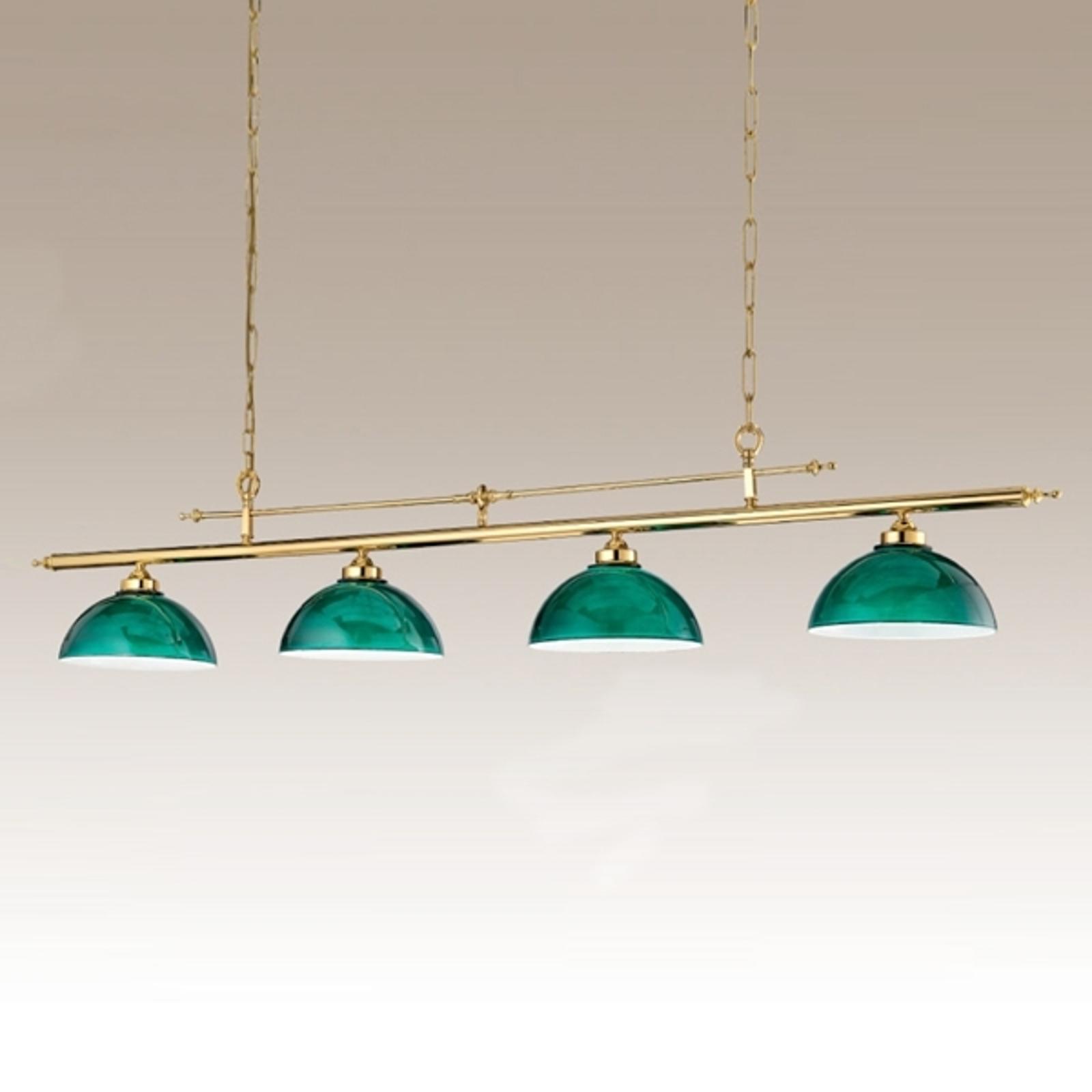 Suspension à 4 lampes Biliardo