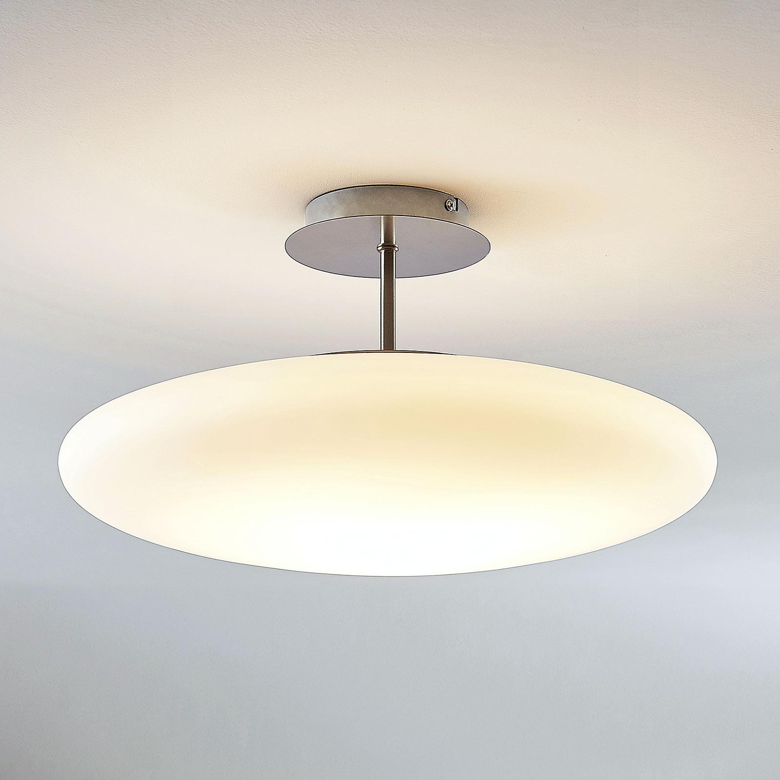 LED-Opalglas-Deckenleuchte Gunda in Weiß