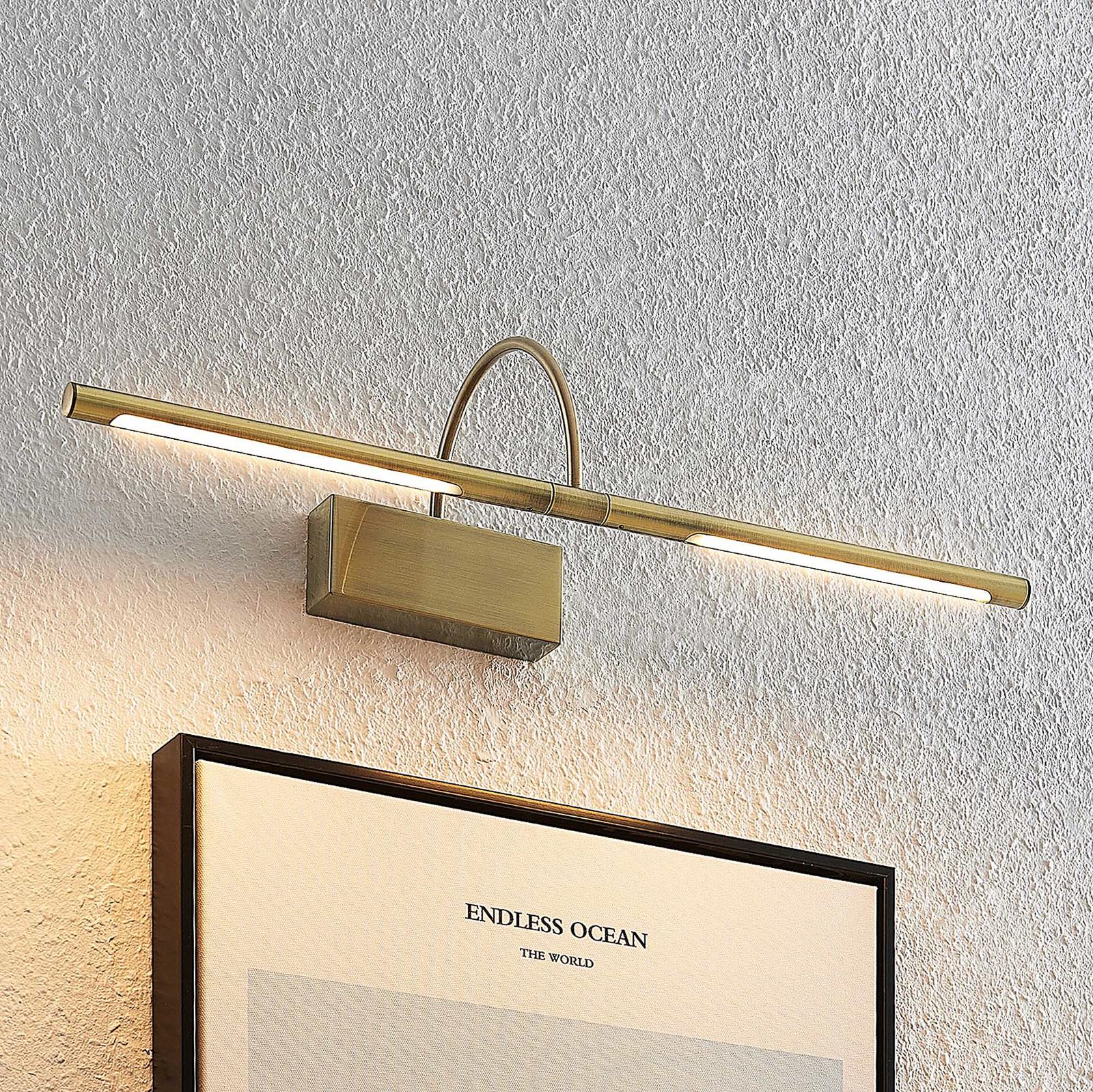 Lucande Fehmke LED-tavelbelysning, antik mässing