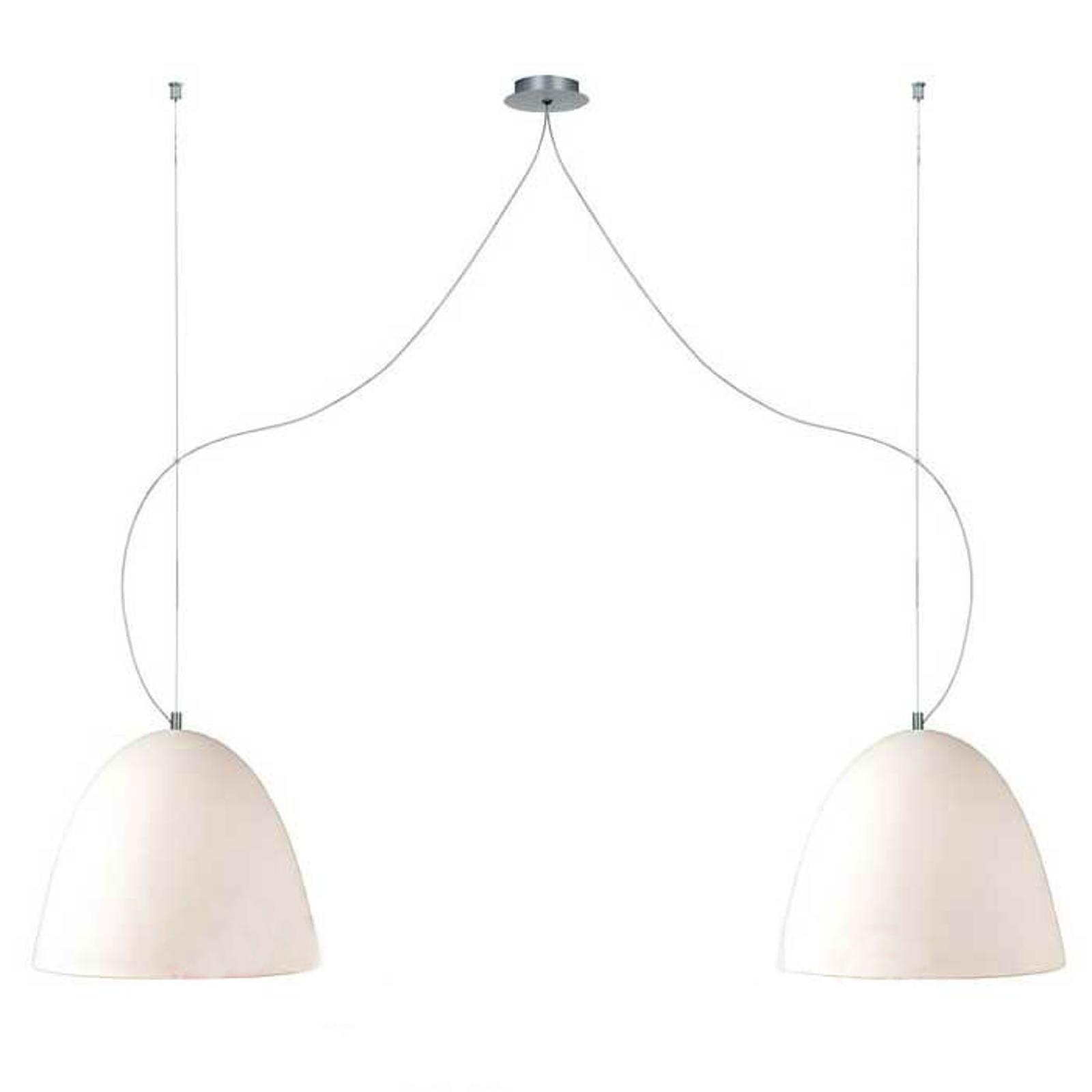 Zandkleurige hanglamp BELL zand, 21 cm, 2-lichts