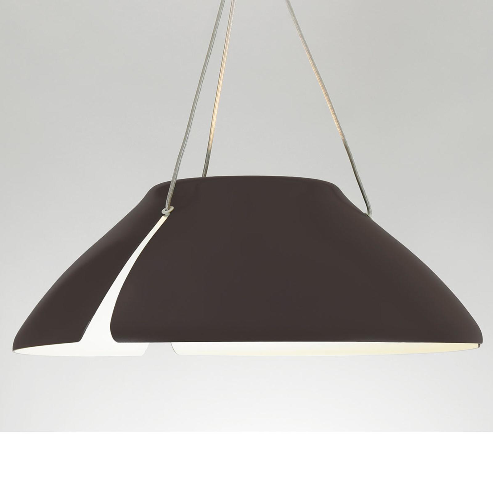 Braune LED-Hängeleuchte Gingko S50 50 cm
