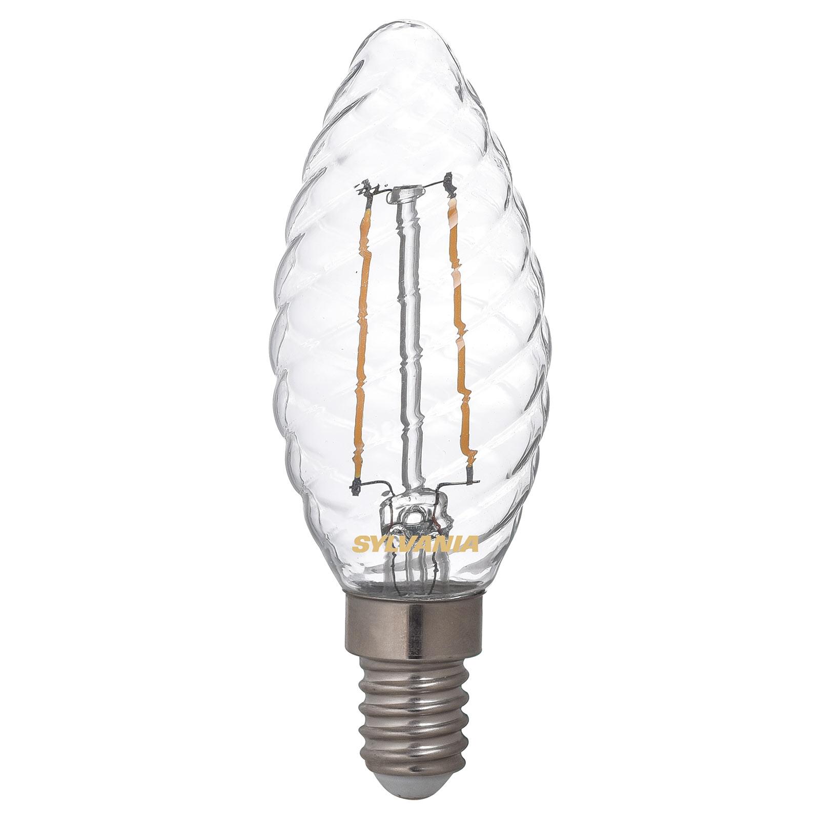 LED-Kerzenlampe E14 ToLEDo 2,5W 827 klar, gedreht