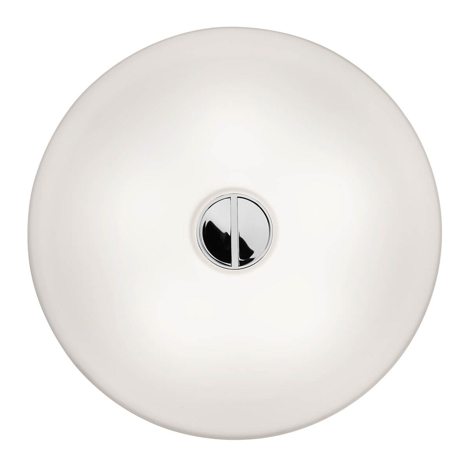 FLOS Button – biele stropné svietidlo IP44