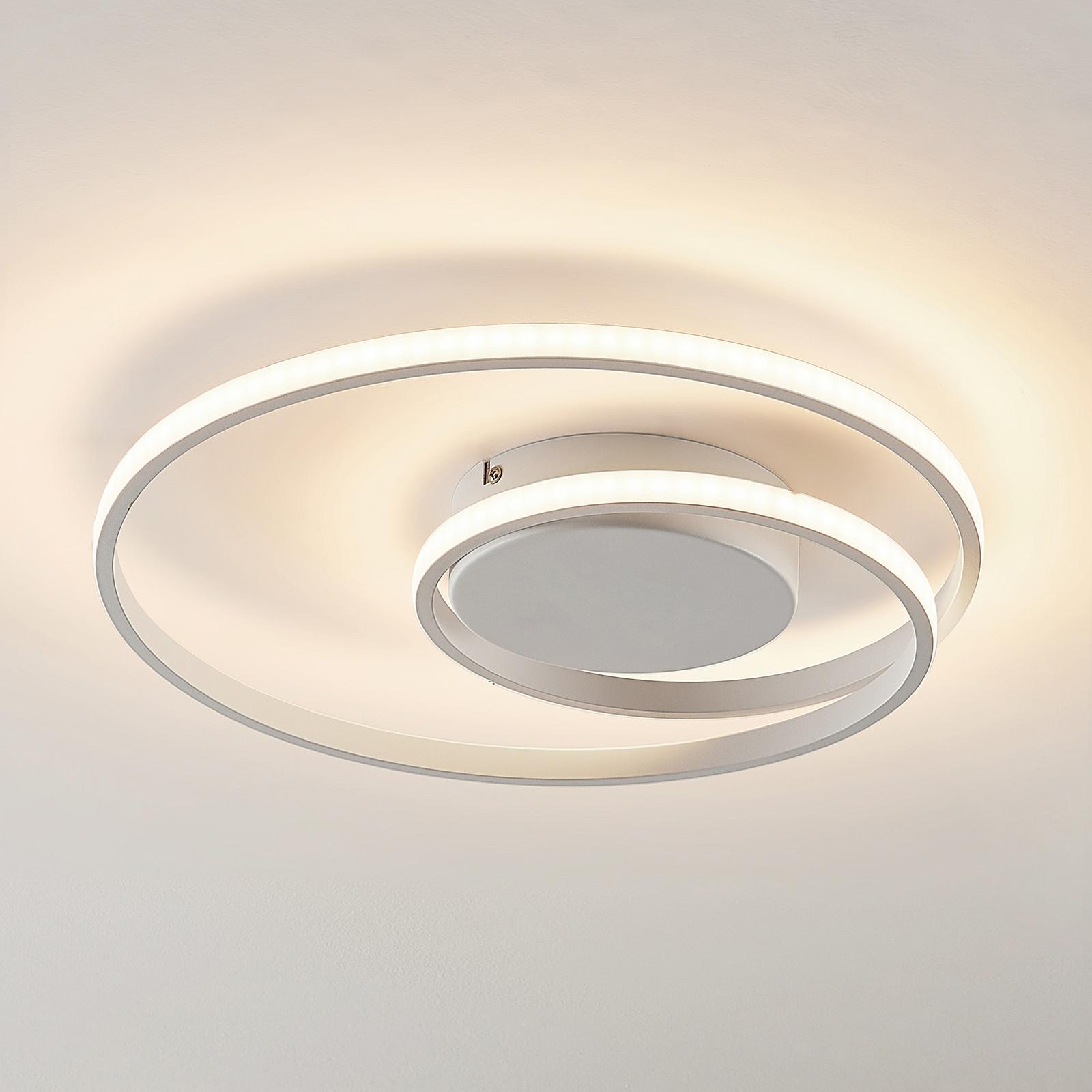Lindby Kyron lampa sufitowa LED, biała matowa