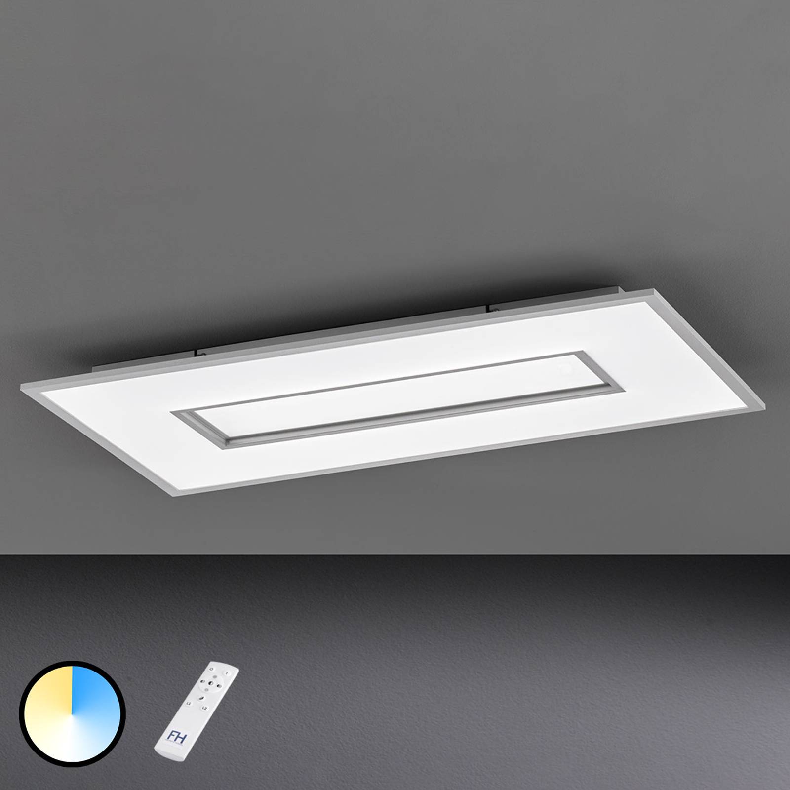 LED plafondlamp Tiara rechthoek 96x50 cm