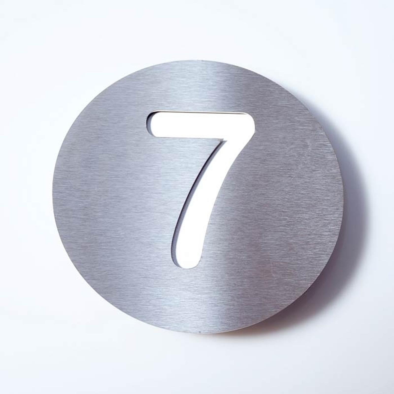 Número de casa Round de acero inoxidable - 7