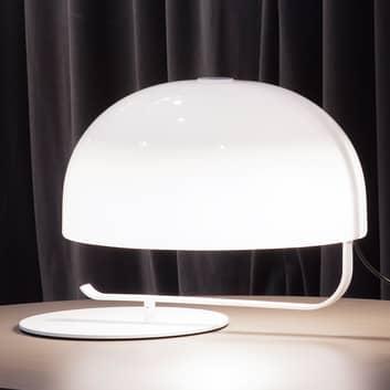 Oluce Zanuso - retrobordslampa i vitt