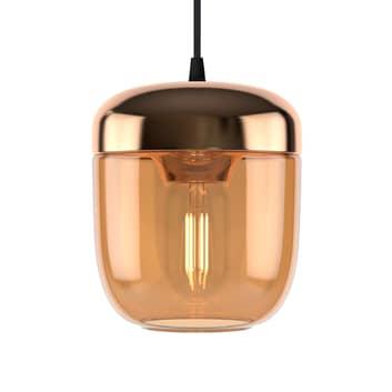 UMAGE Acorn sospensione 1 luce, ambra e ottone