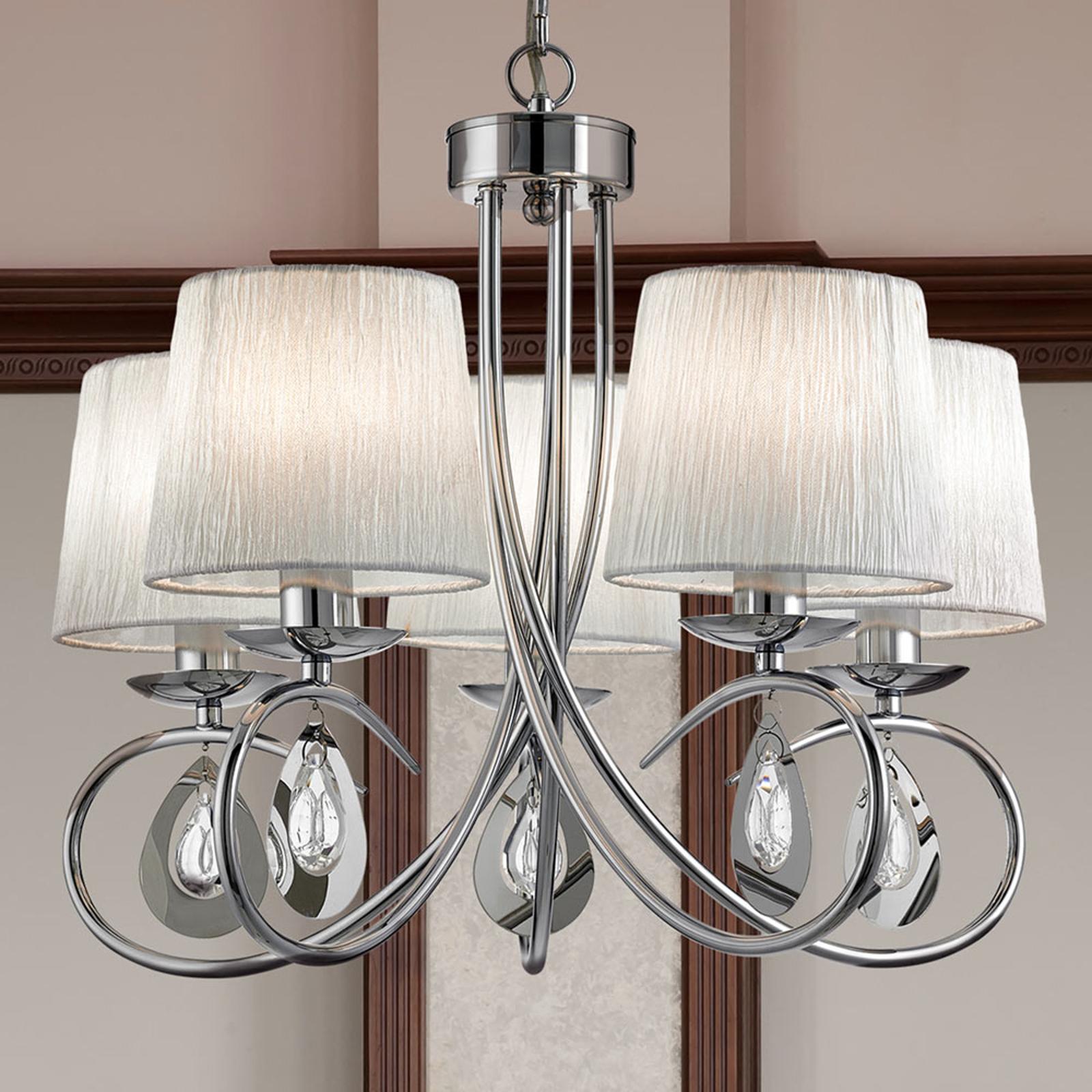 Závěsné světlo Angelique s 5 žárovkami