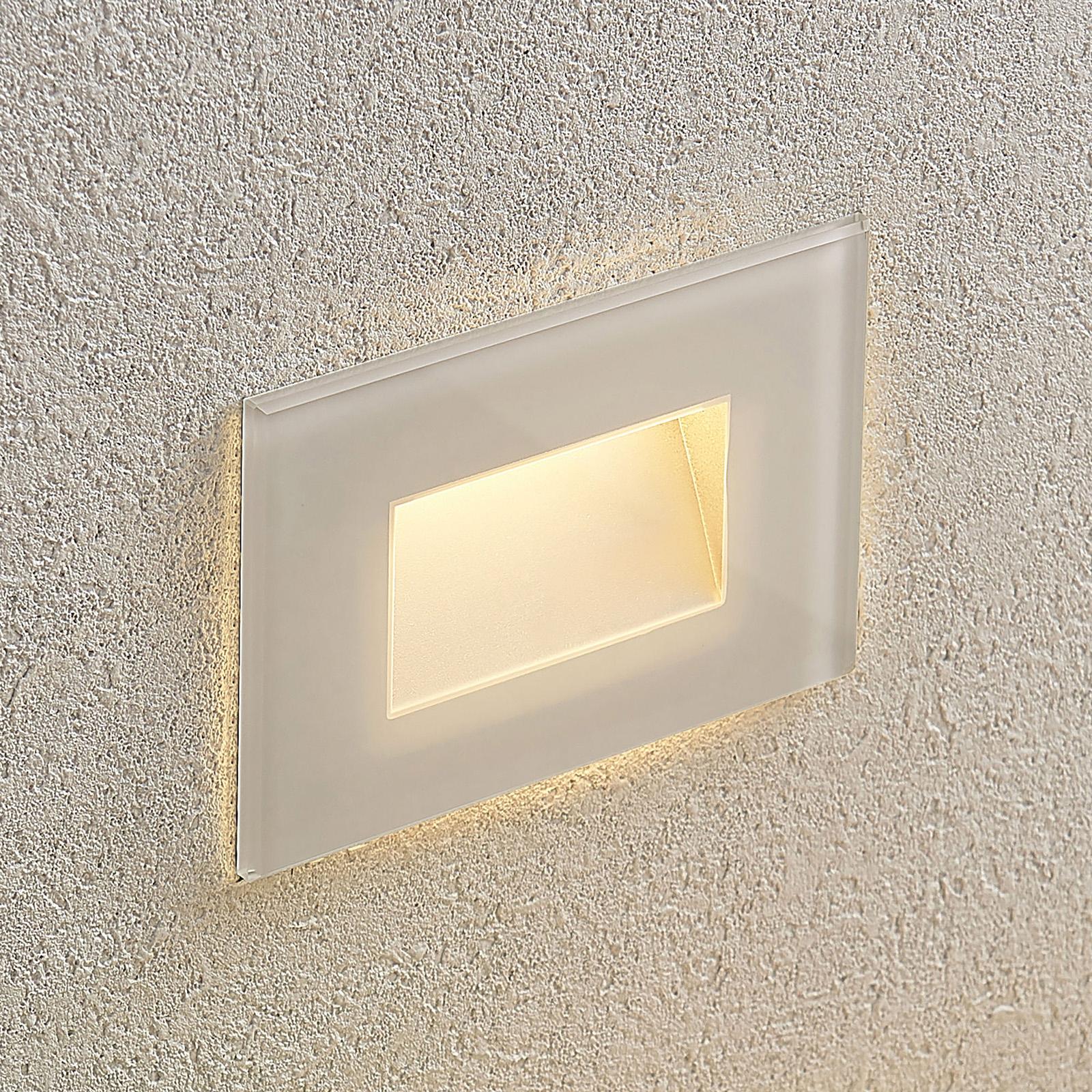 Applique encastrable LED Jody 12cm, polycarbonate