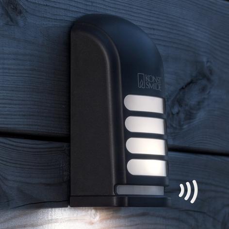 Utendørs innfelt LED vegglampe Prato med sensor