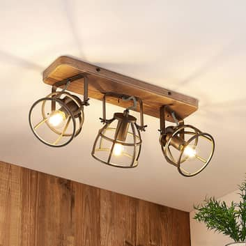 Lindby Rutger lampa sufitowa, 3-punktowa