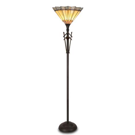 Uliana - standerlampe i Tiffany-stil
