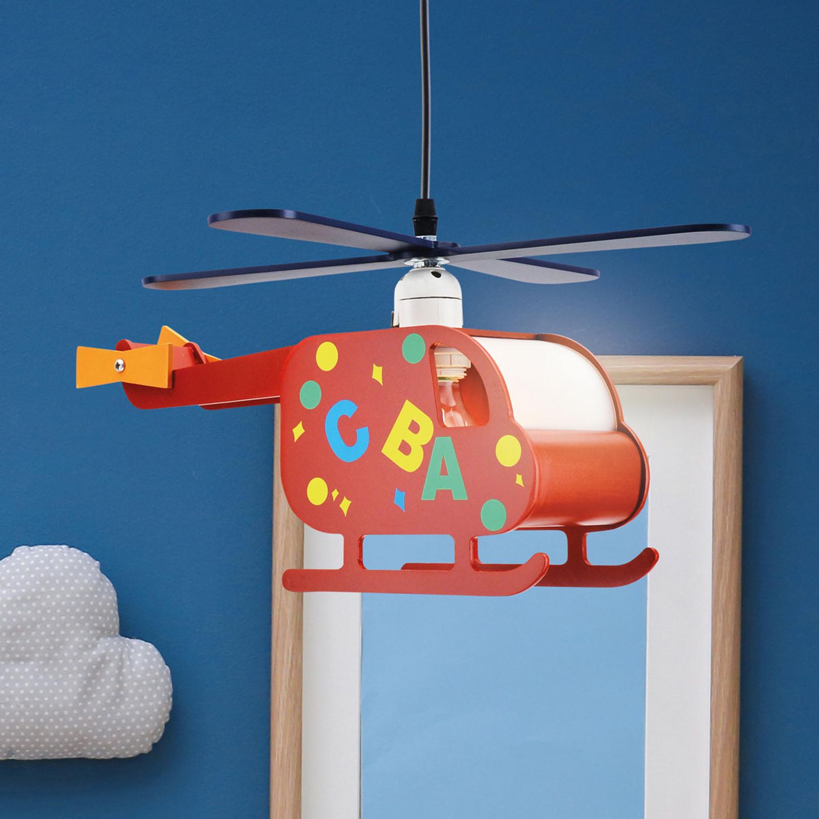Lampa wisząca Hubert – lecący helikopter
