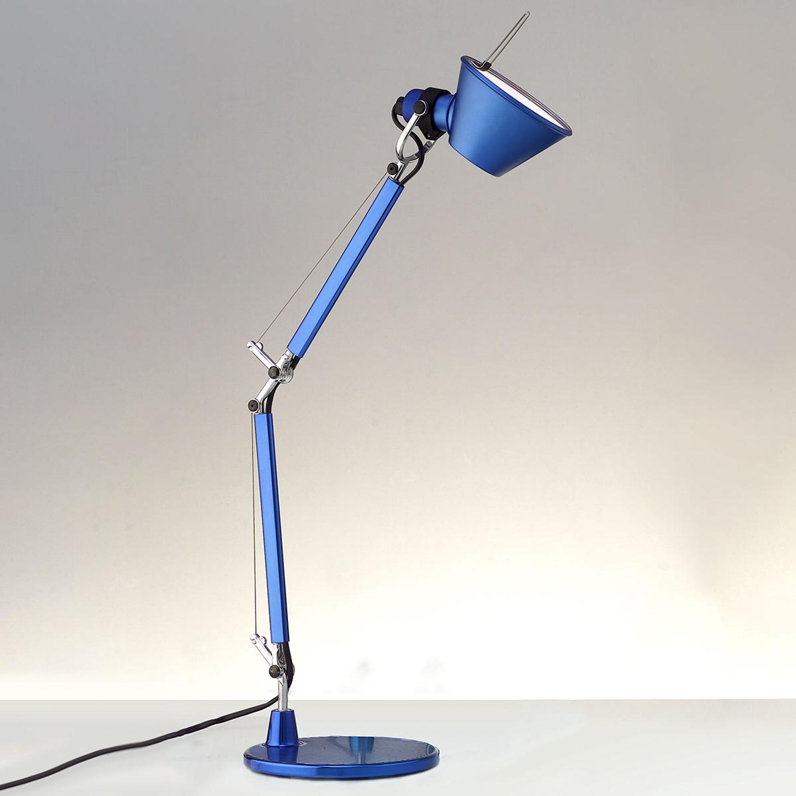 Artemide Tolomeo Micro bordslampa, blå-metallisk
