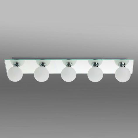 Koupelnové stropní světlo LASS, 5 žárovky