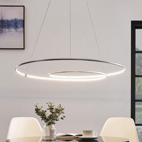 Lindby Lucy LED závěsné světlo, 90cm, hliník