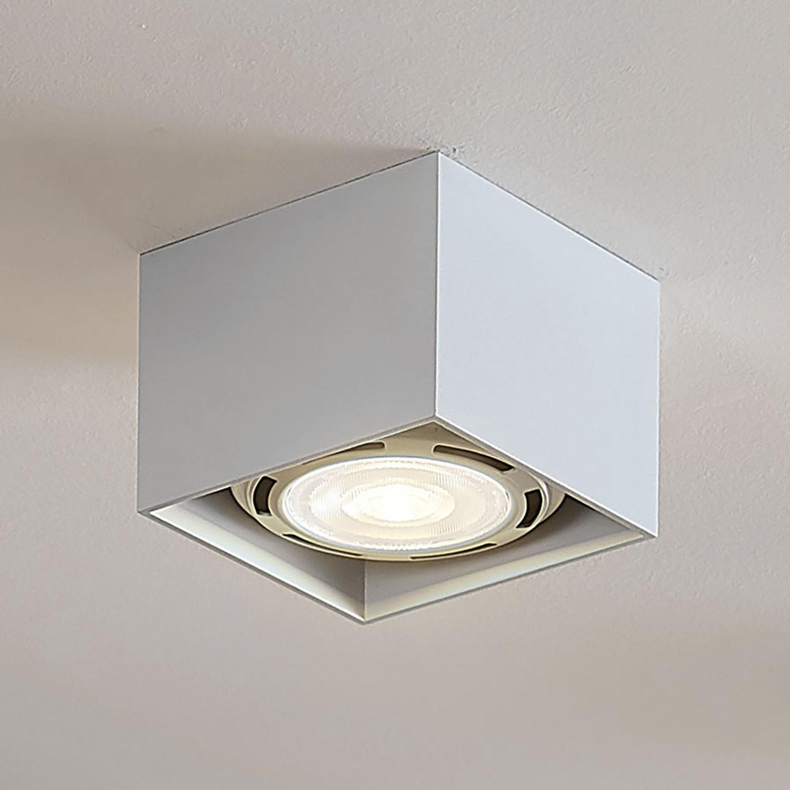 LED-takspot Mabel, kantet, hvit
