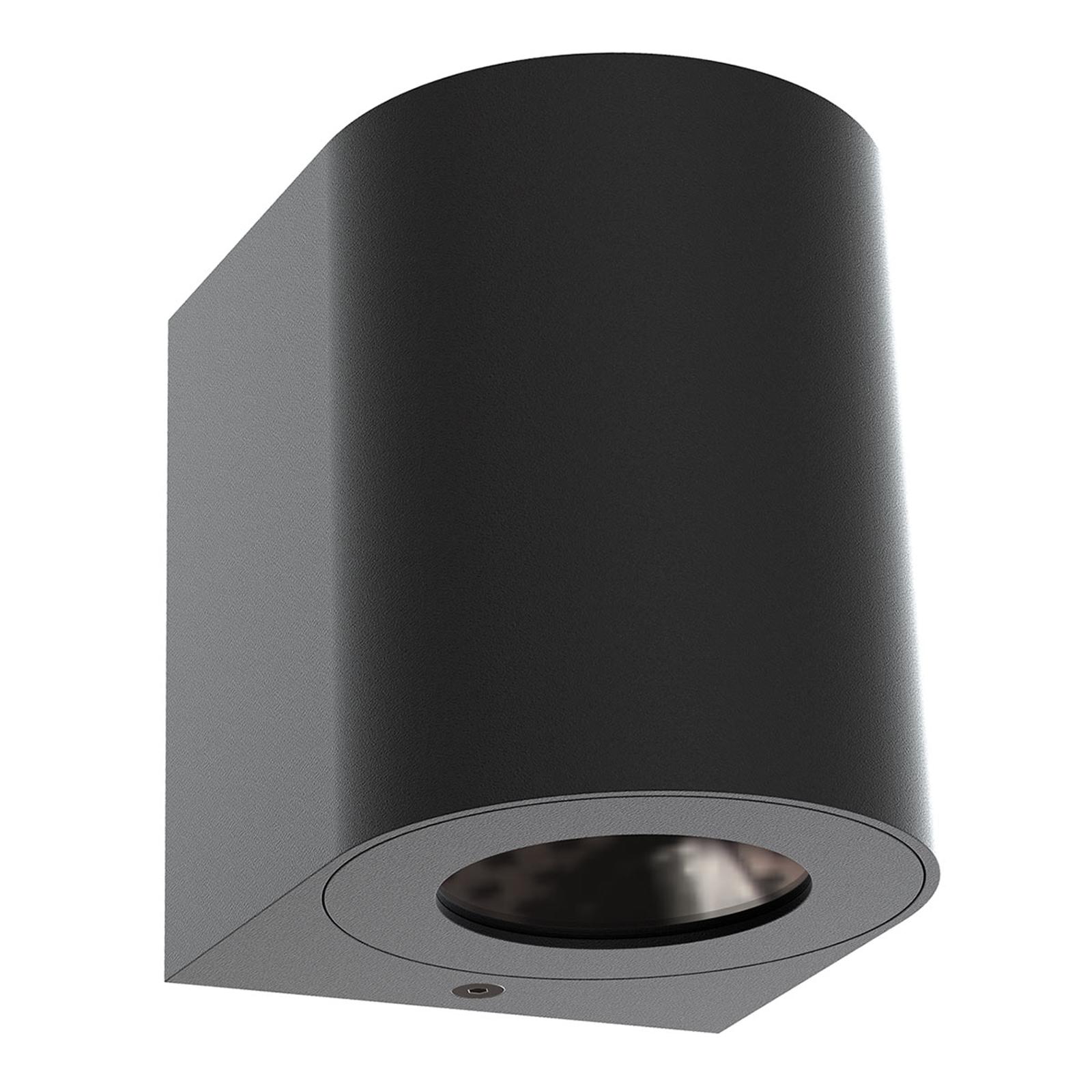 LED buitenwandlamp Canto 2, 10 cm, zwart