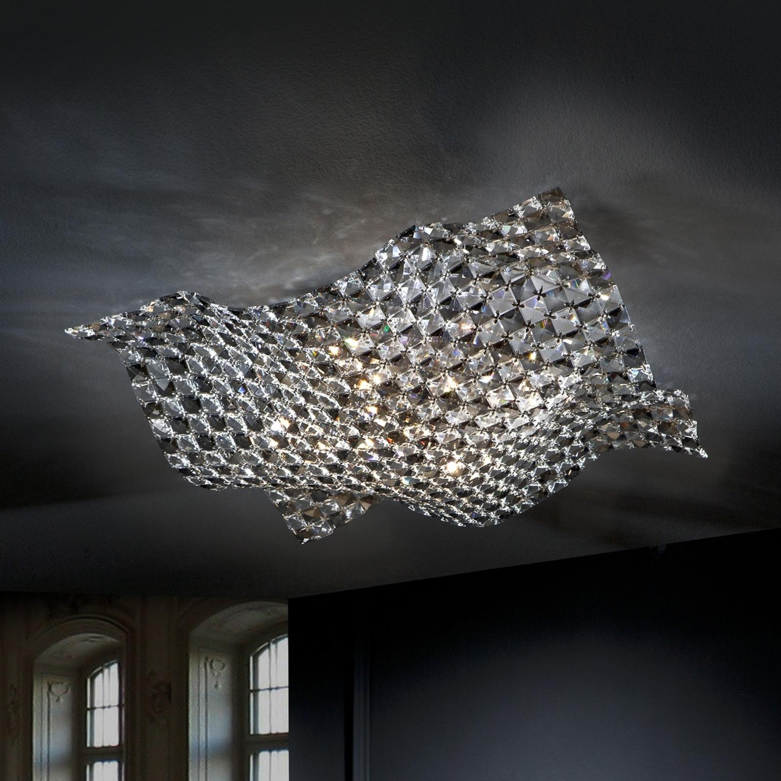 Taklampe Saten av krystall, 56 cm