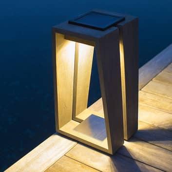 Lámpara solar LED Skaal con sensor, 39 cm