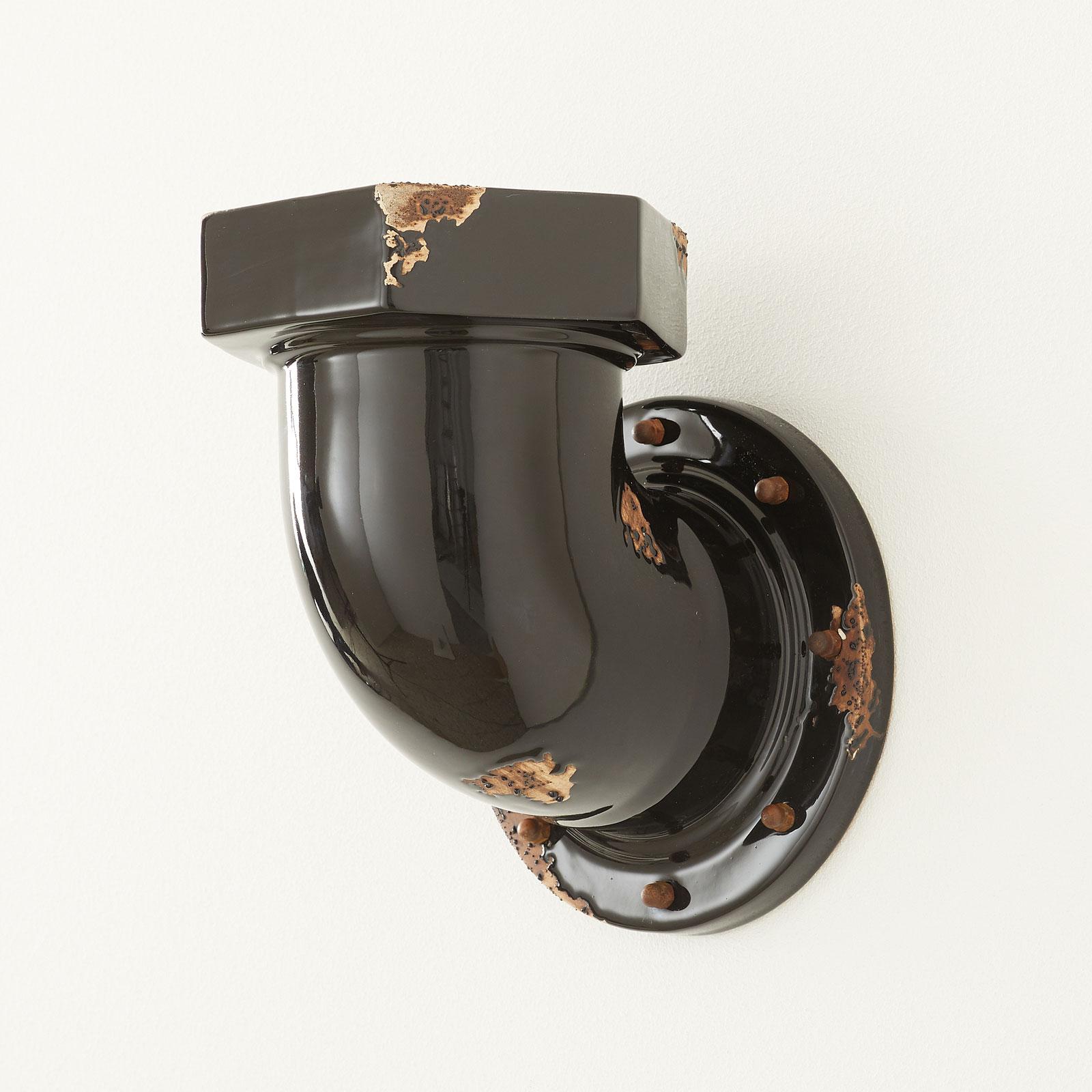 Wandlamp C1810 in buisvorm, zwart