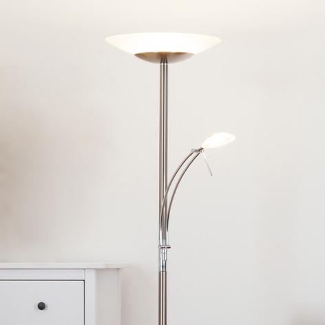 Ilinca - dimbar LED-uplight-golvlampa med läslampa