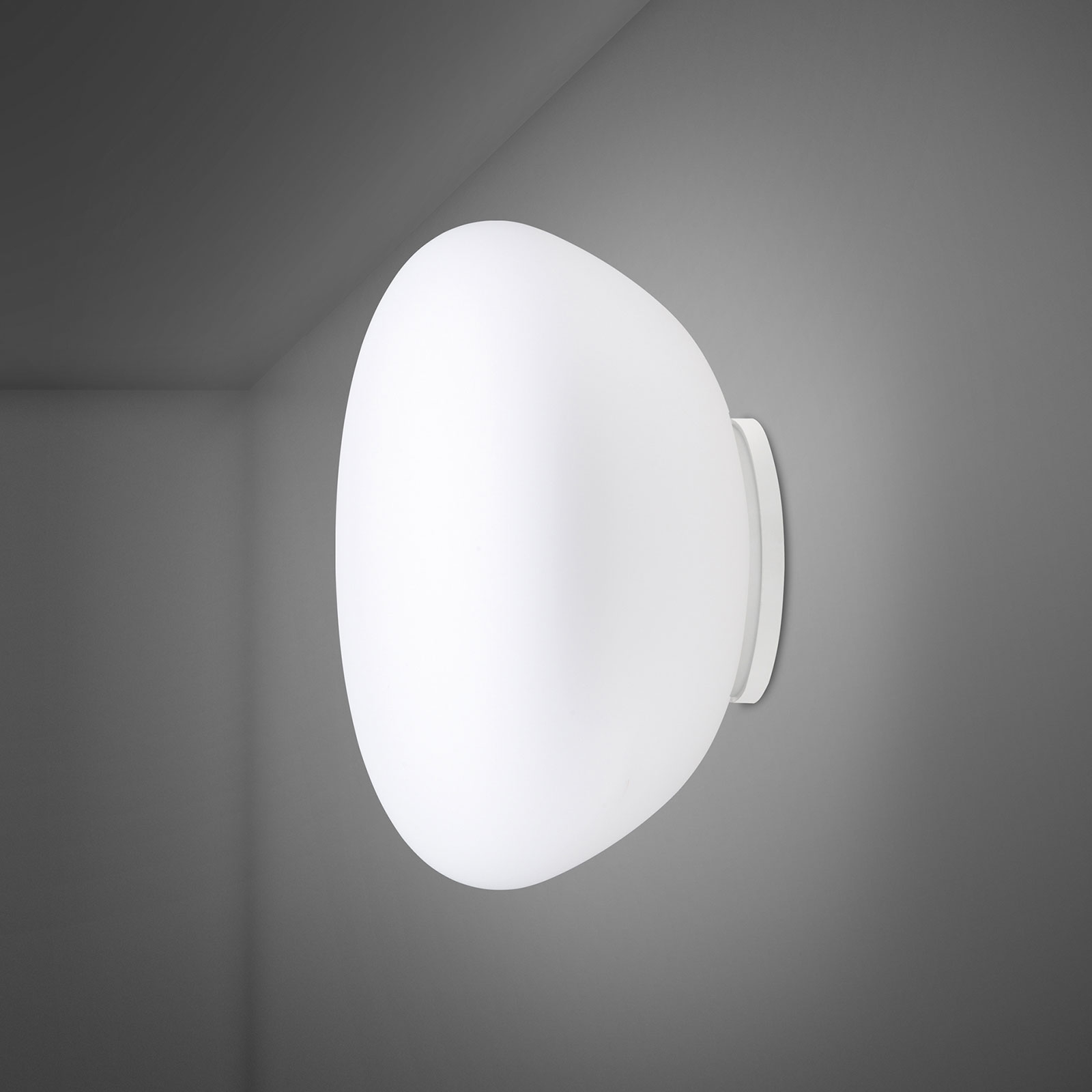 Fabbian Lumi Poga Glas-Wandleuchte, Ø 42 cm