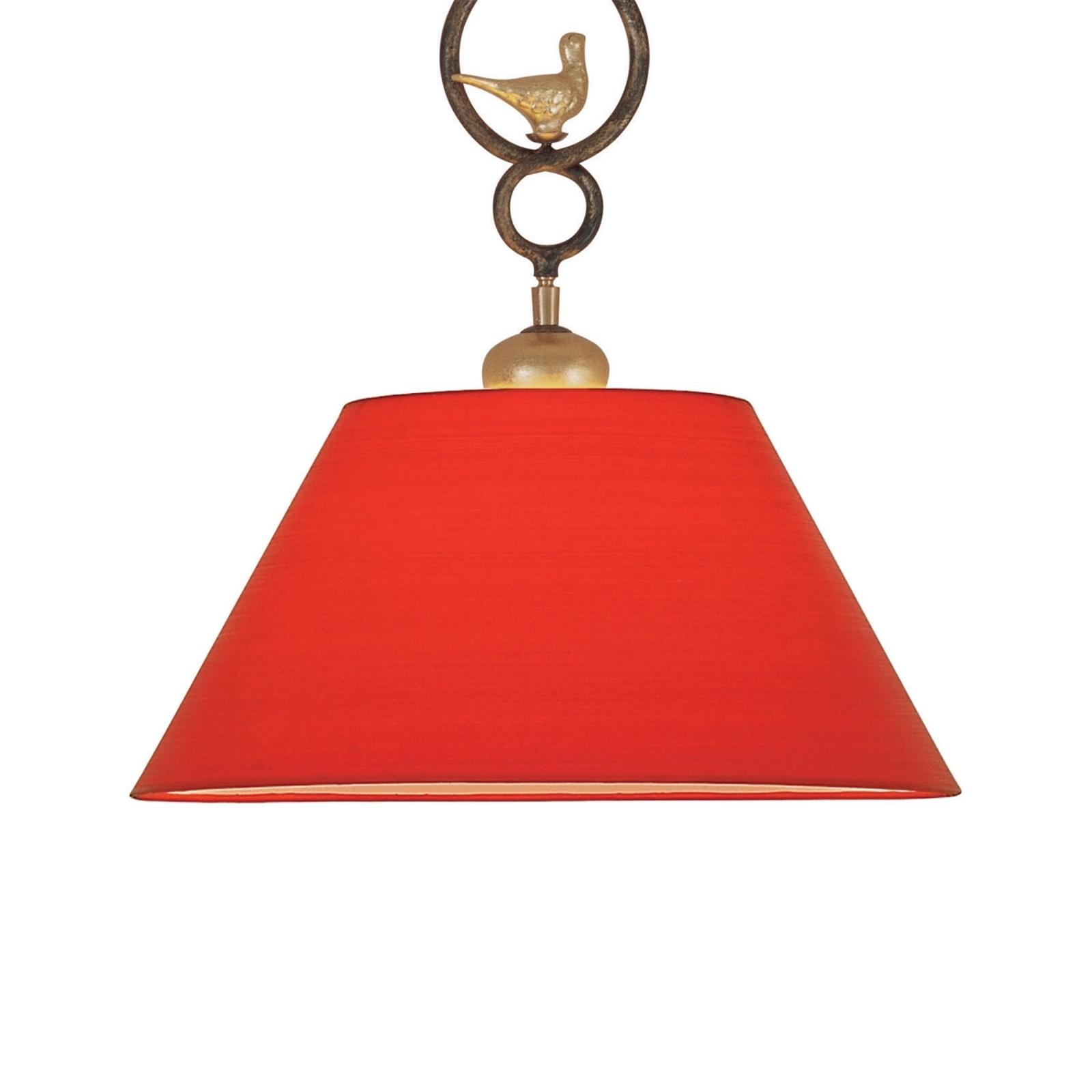 Dekoracyjna lampa wisząca PROVENCE CHALET czerwona
