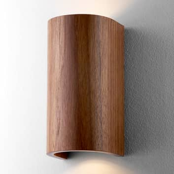 Wandleuchte Tube Nussbaum 17,5 cm