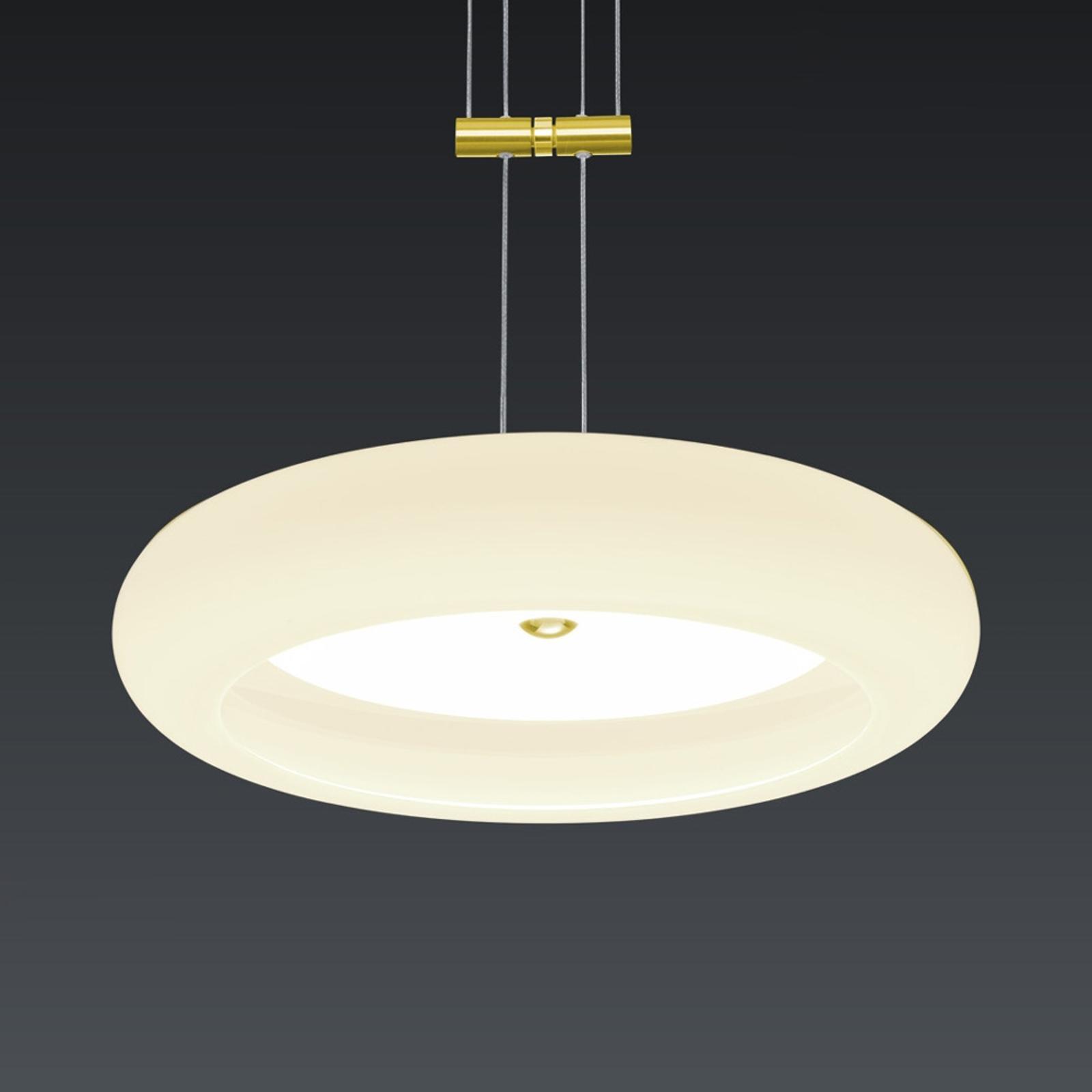 BANKAMP Centa lampa wisząca 1-pkt. 34 cm mosiądz