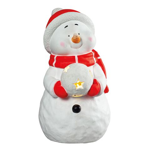 Sfeerlamp sneeuwpop met LED sneeuwbal