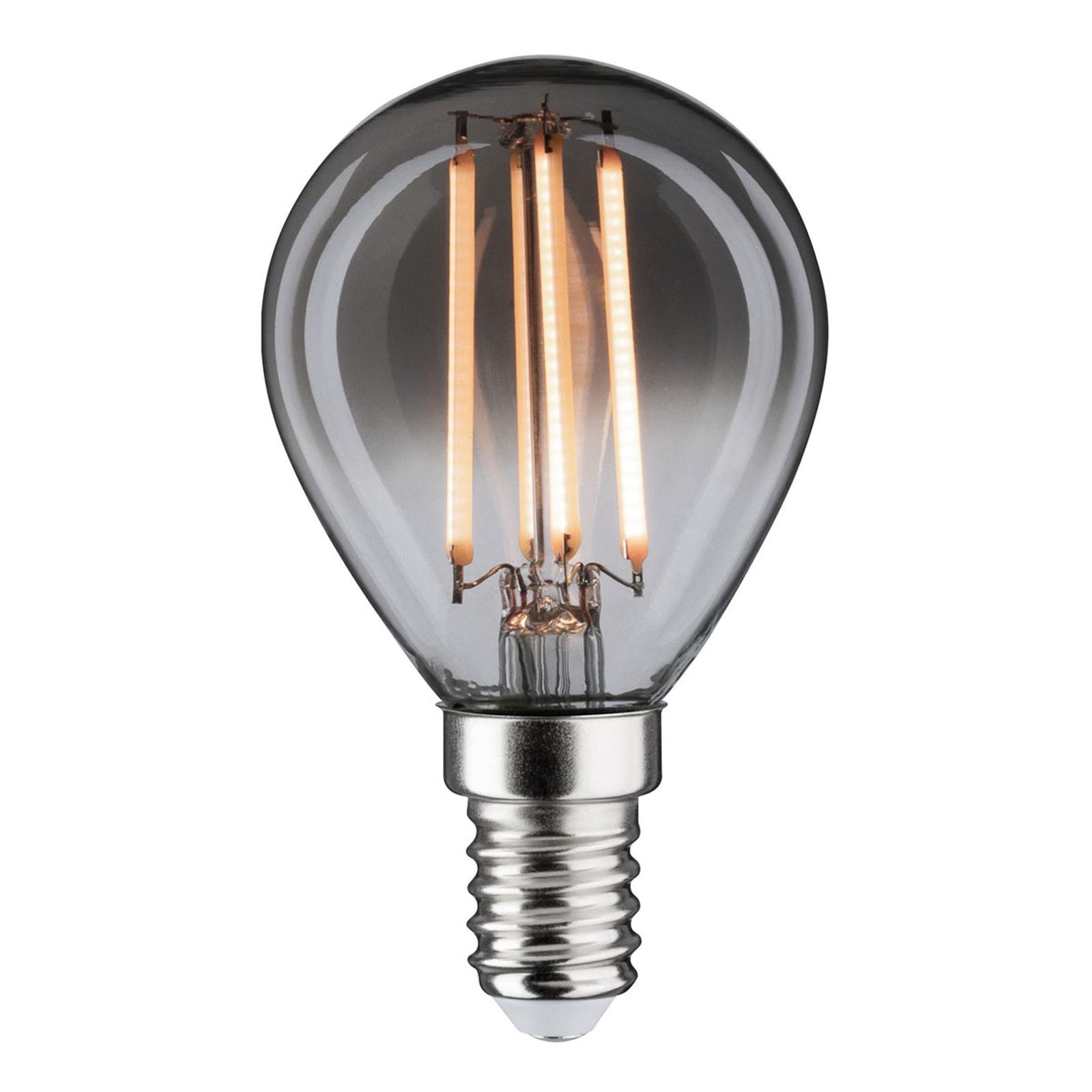 LED-dråpepære E14 4 W 2200K røykglass, dimbar