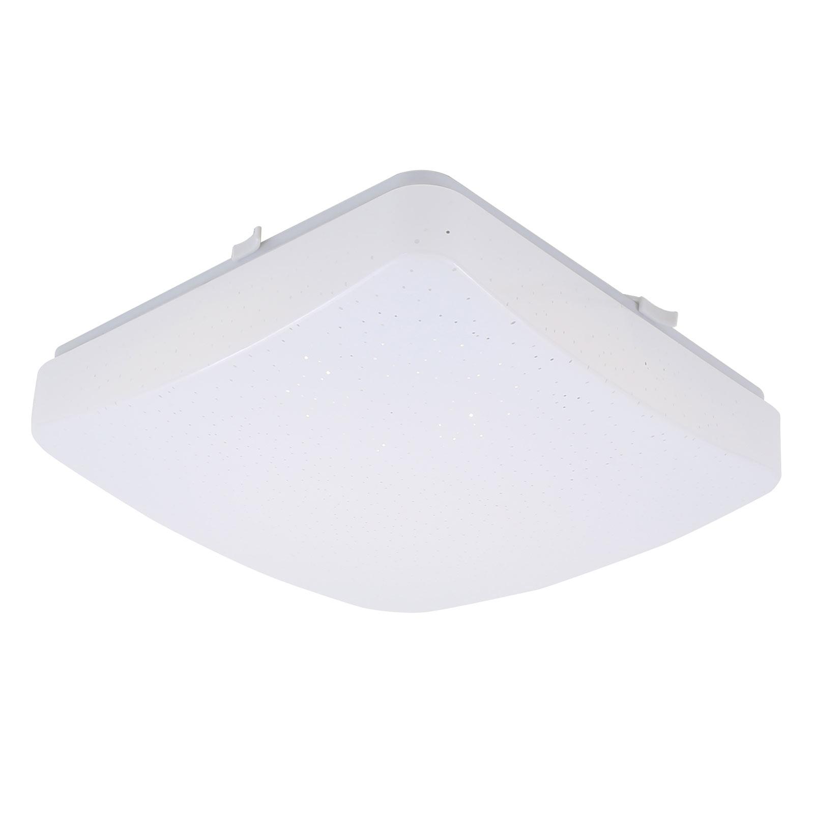 LED-taklampe 3347/3387, stjernedekor, 27x27 cm