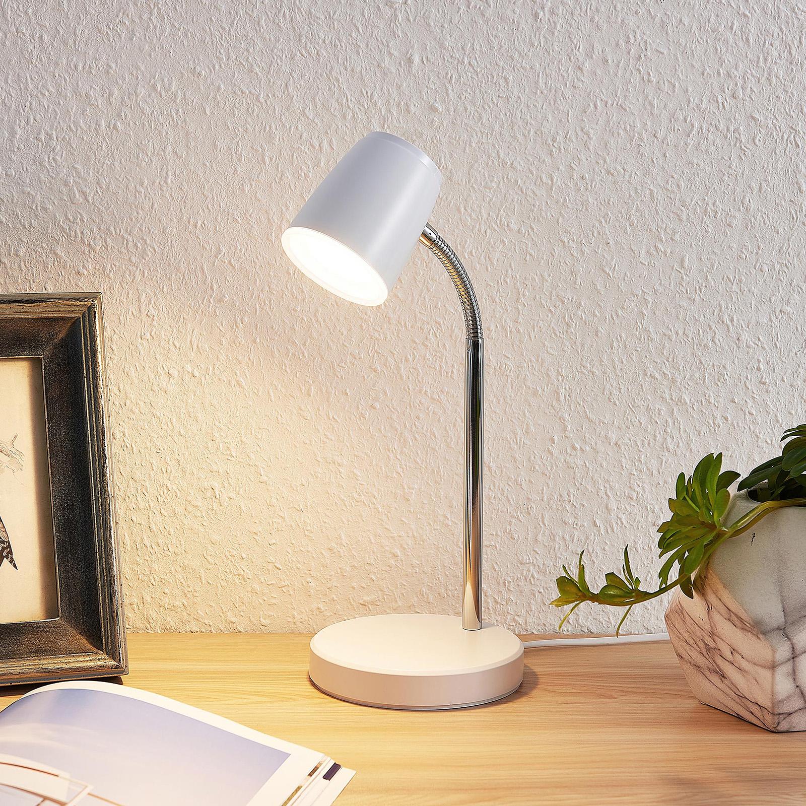 Lindby Jegor -LED-pöytävalaisin, valkoinen