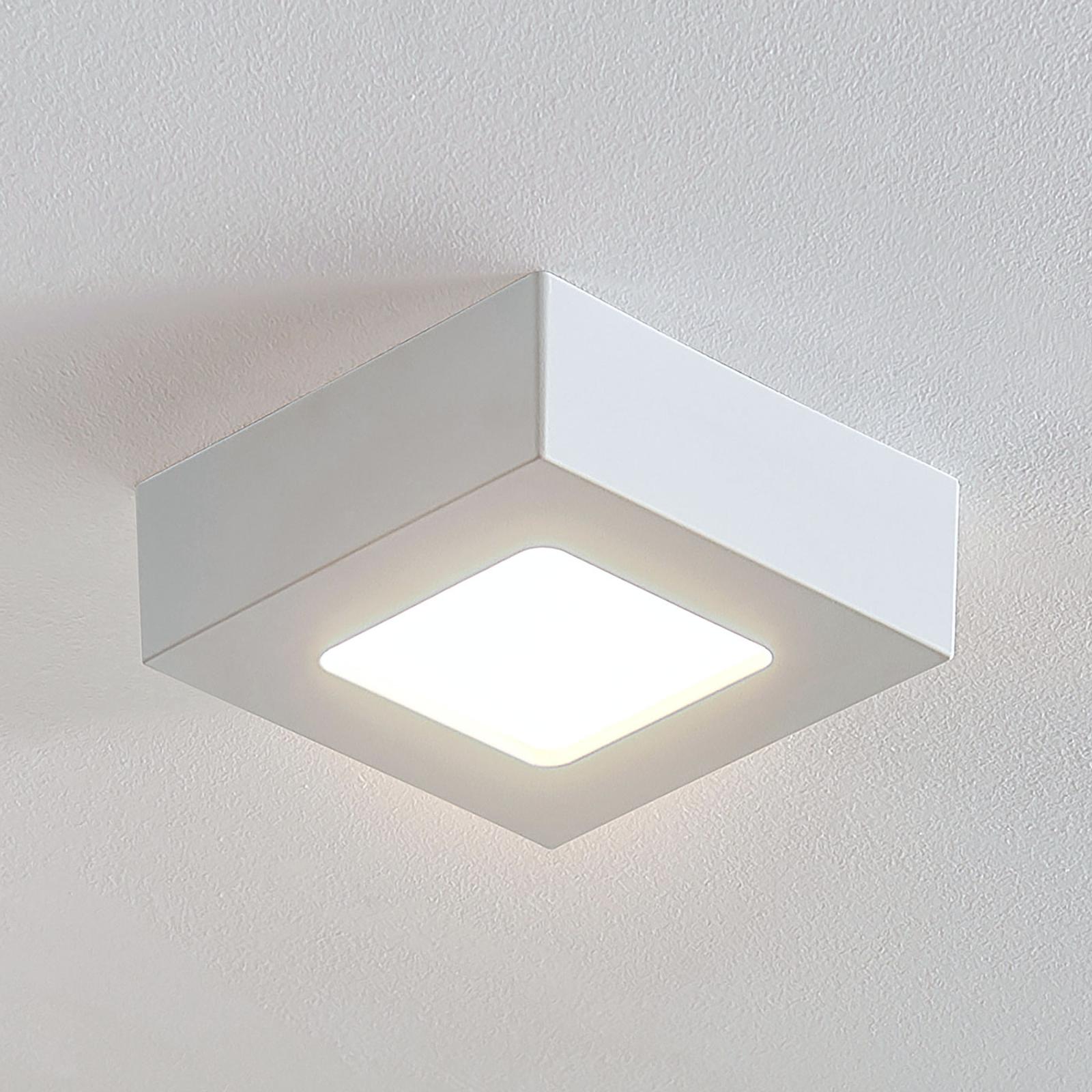 LED plafondlamp Marlo wit 3.000K hoekig 12,8 cm