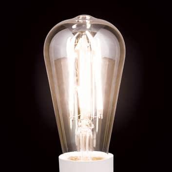 LED-Rustikalampe E27 7W, warmweiß, dimmbar