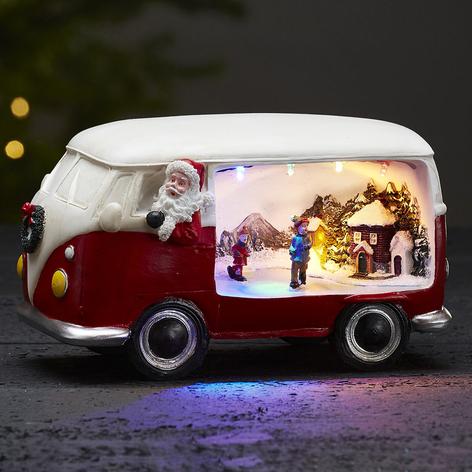 Dekorlampe Merryville med LED - julebuss