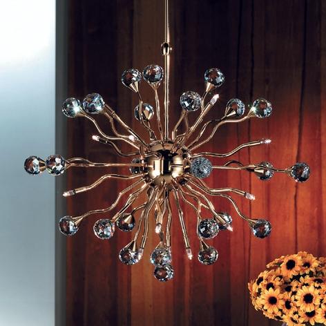 Lámpara colgante Luanee, dorada, 58 cm