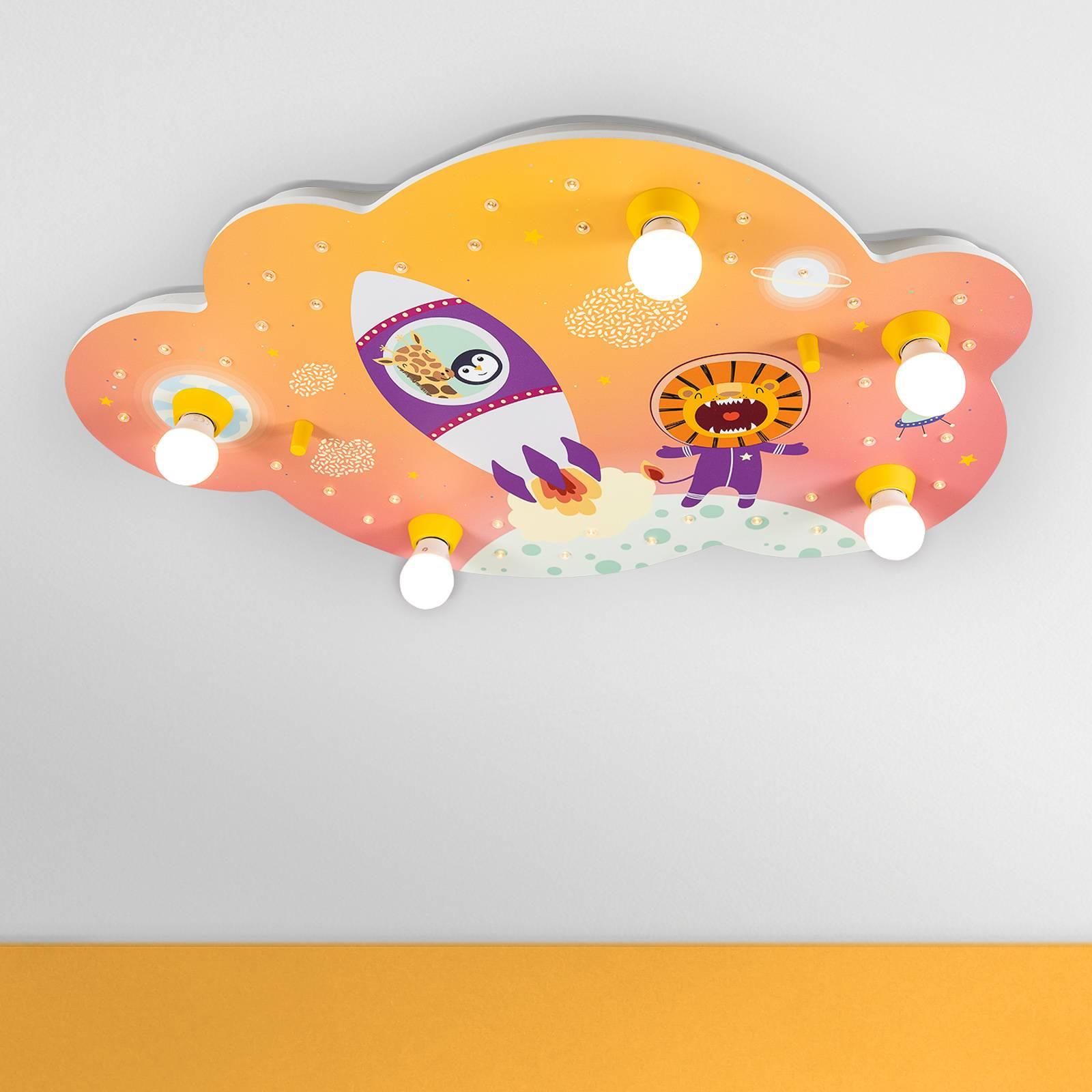 Plafondlamp beeldwolk Escape, oranje