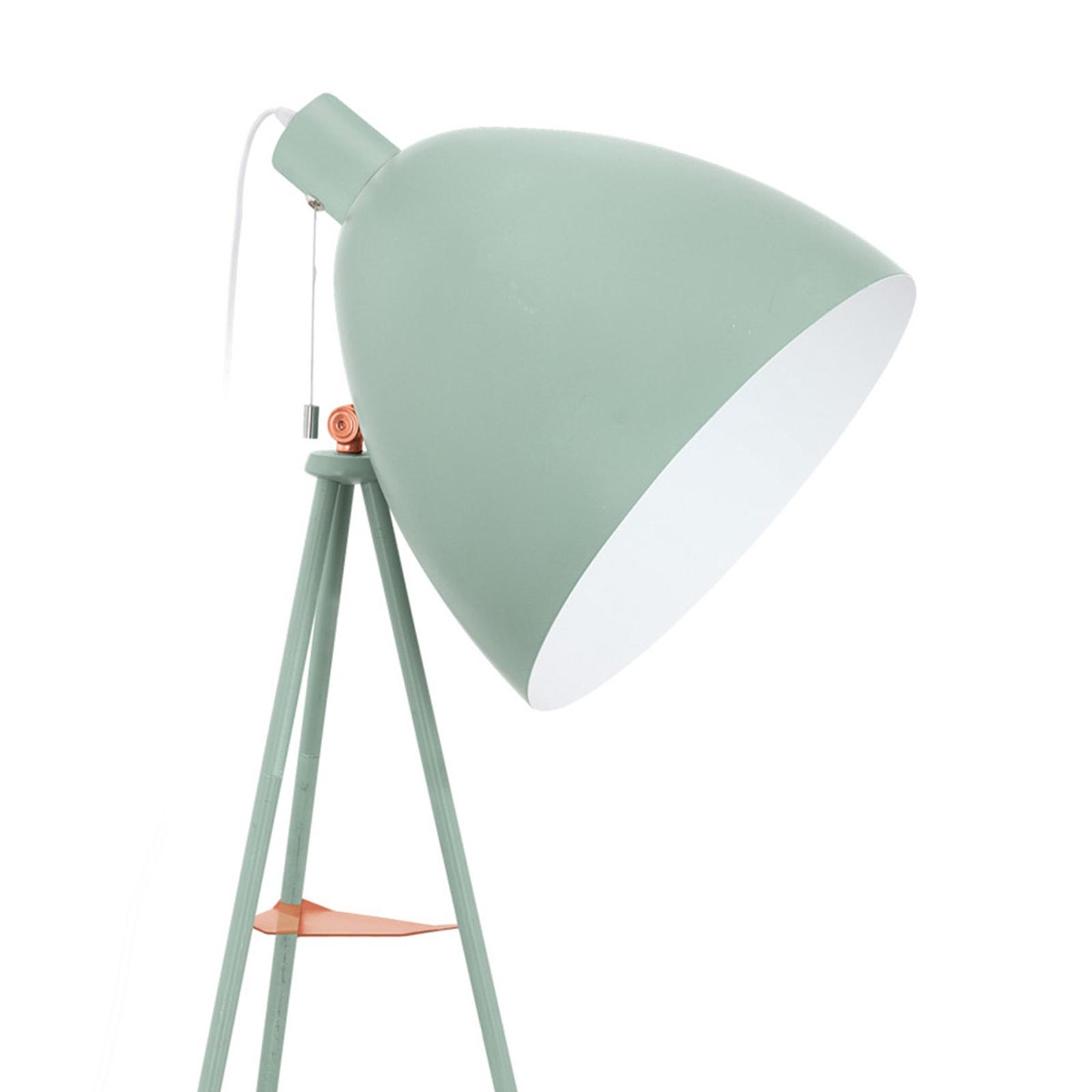 Stehlampe Dundee im Retrolook in Mintgrün