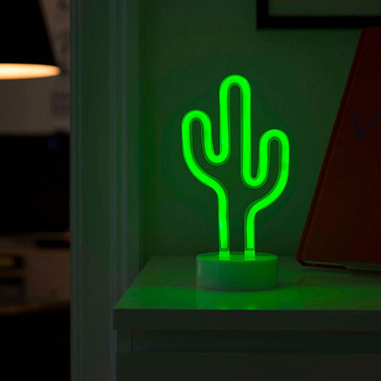 LED dekorativní světlo kaktus, na baterie